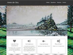 Nouveau site pour Anne de Giry